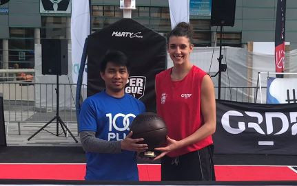 Laetitia Guapo top-scored with nine points as France won the International Basketball Federation 3x3 Women's Series in Turin ©Twitter