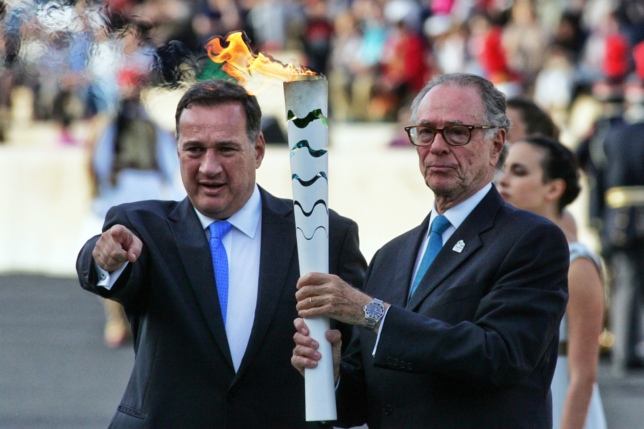 Spyros Capralos of Greece, left, is among 10 officials proposed for membership of the IOC ©Getty Images