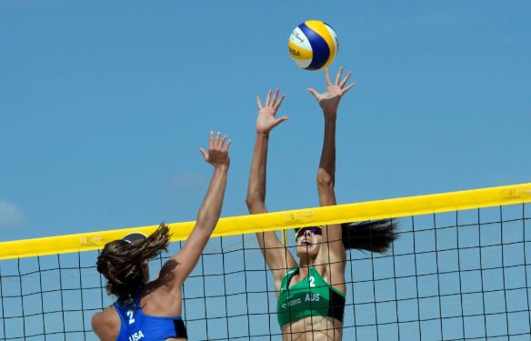 Australians Taliqua Clancy and Mariafe Artacho won the women's International Volleyball Federation Beach World Tour four-star event in Warsaw ©FIVB