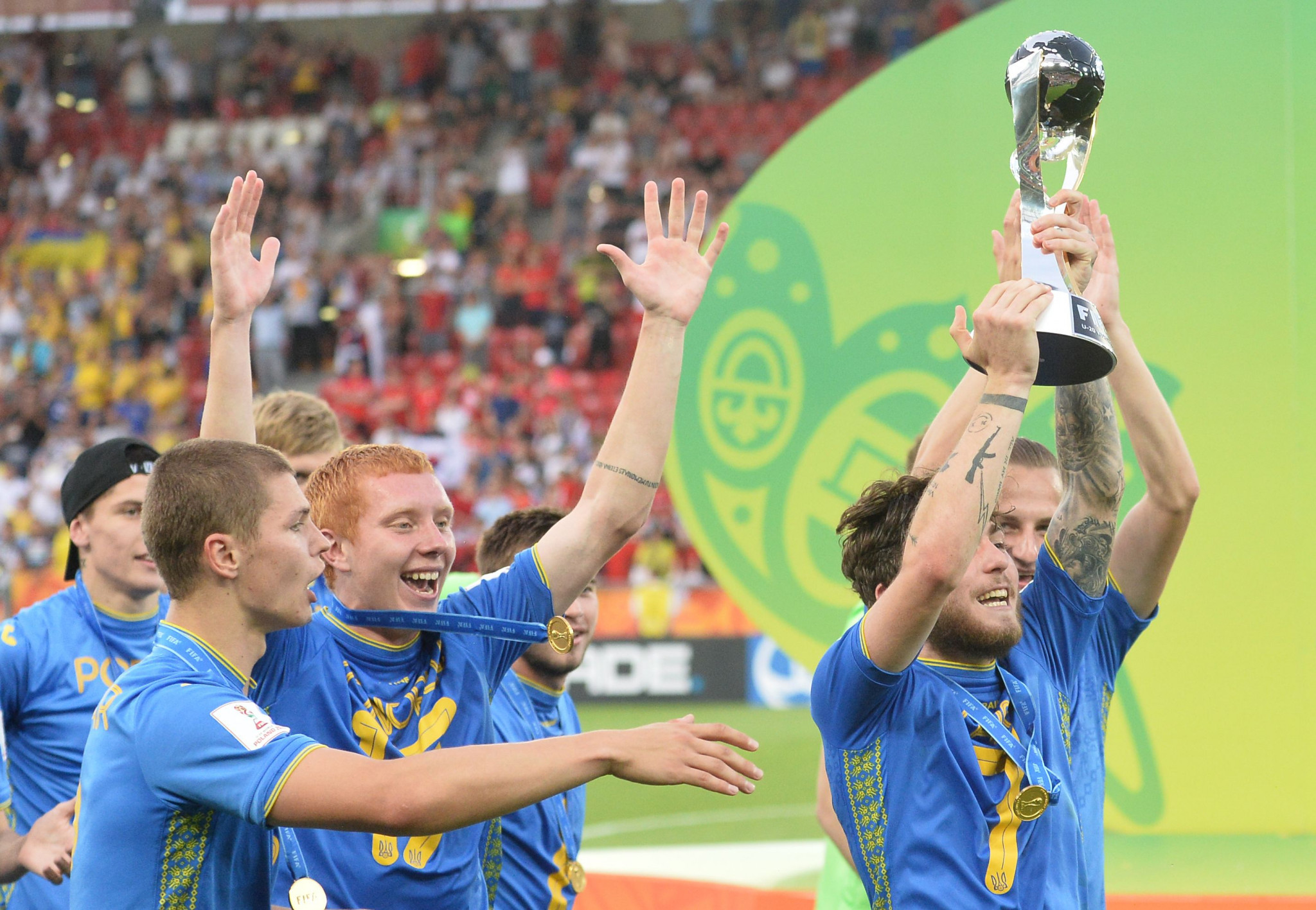 Ukraine were crowned winners of the Under-20 FIFA World Cup ©Getty Images