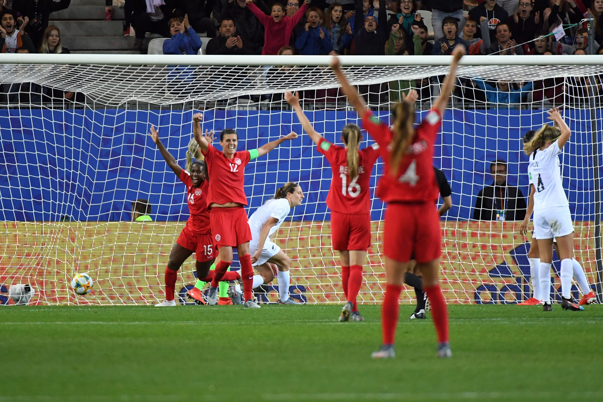 Nichelle Prince wraps up Canada's victory 11 minutes from time ©Getty Images
