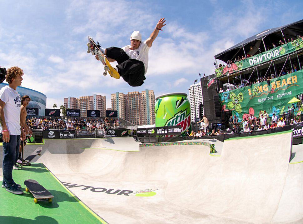 Brazil's Pedro Barros topped the standings in the semi-finals of the men's park competition ©Dew Tour