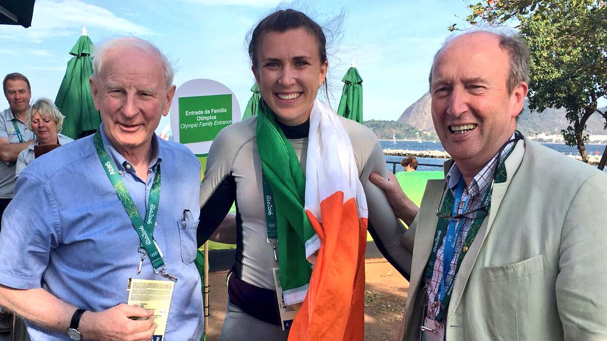 Pat Hickey, left, and Shane Ross have experienced a tumultuous relationship since the scandal at RIo 2016 ©Twitter