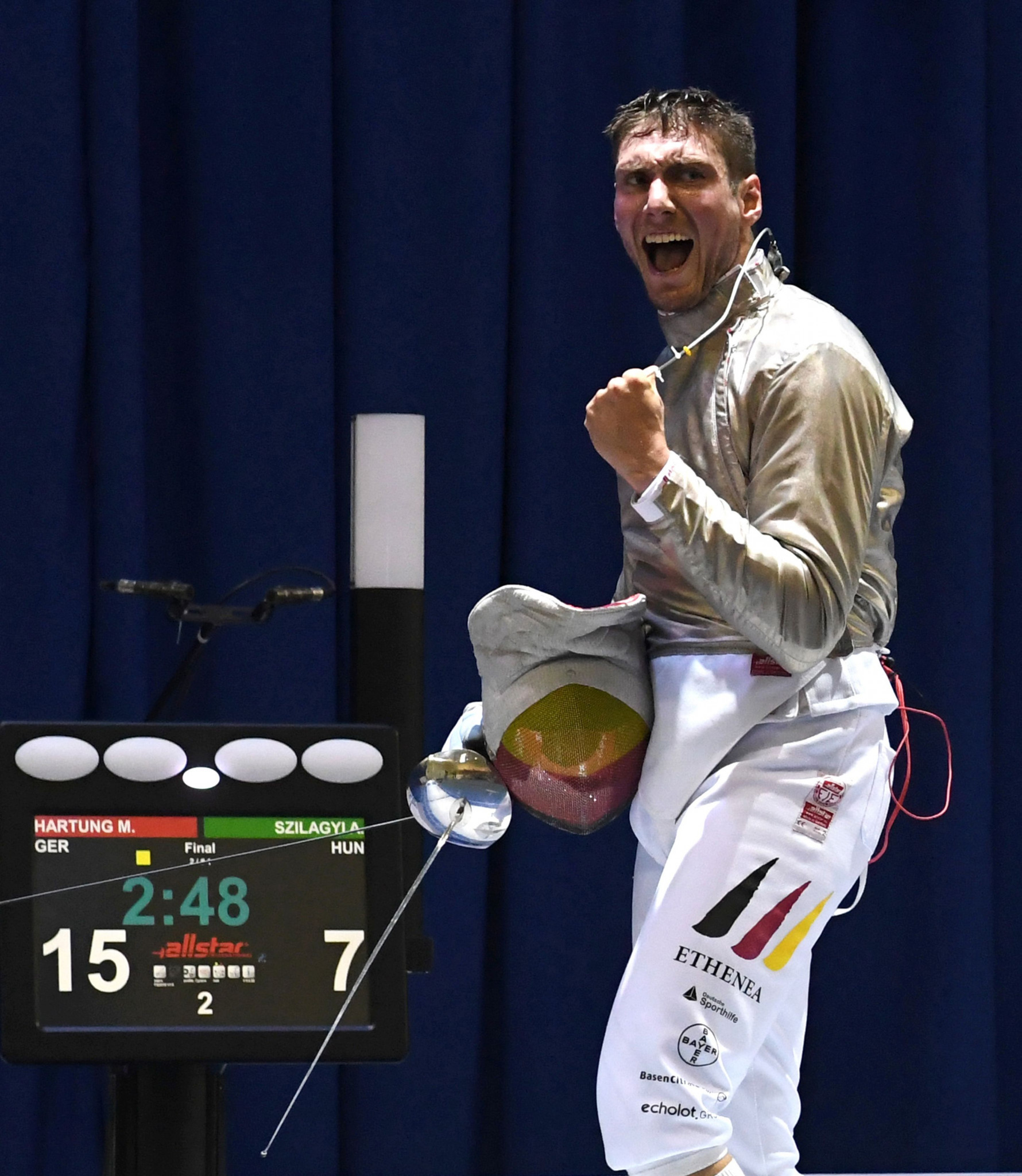 Germany's Max Hartung will look to defend his men's sabre crown in front of a home crowd ©Getty Images
