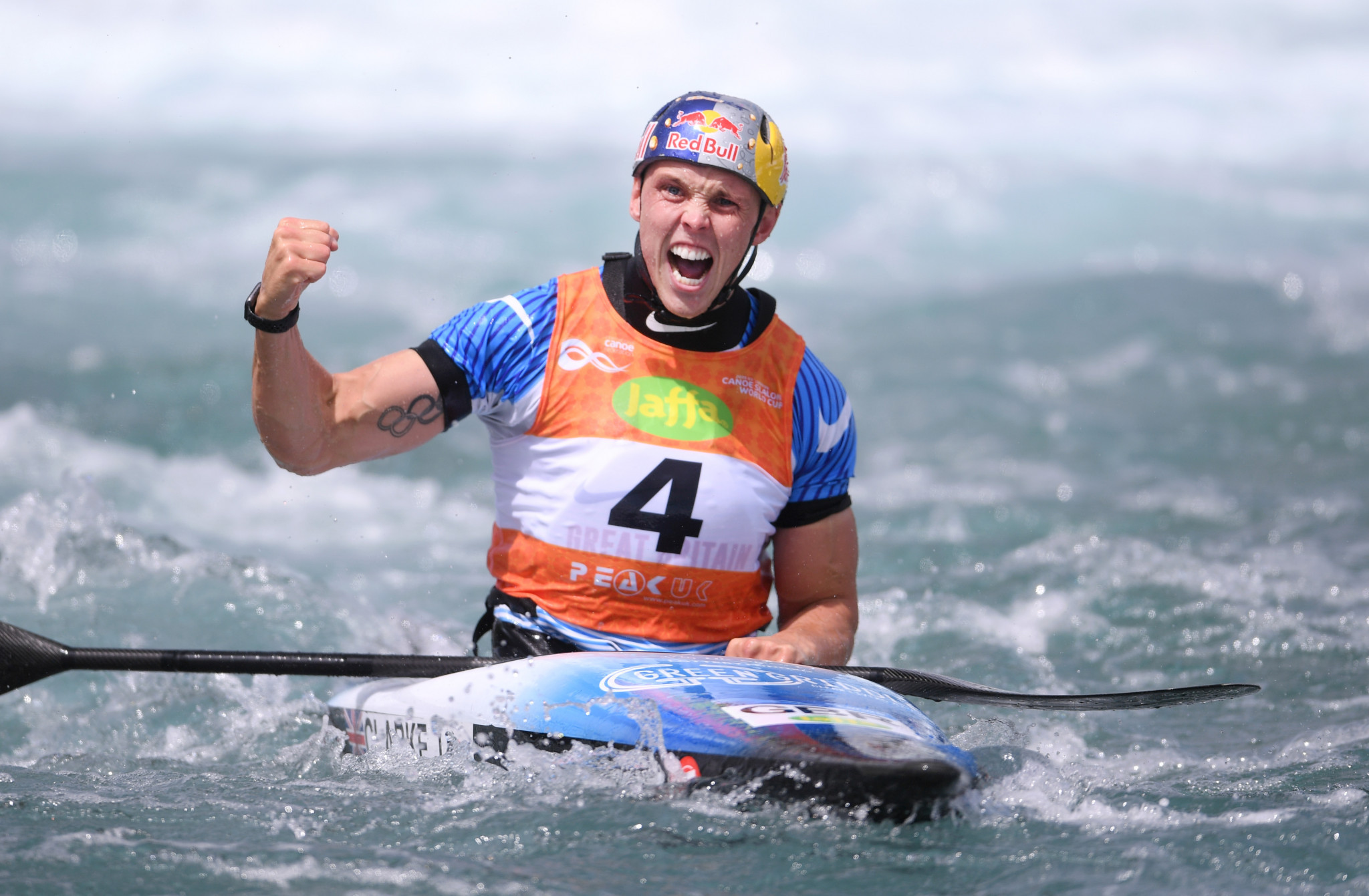 Olympic gold medallist Joe Clarke won the men's K1 final at Lee Valley ©Getty Images
