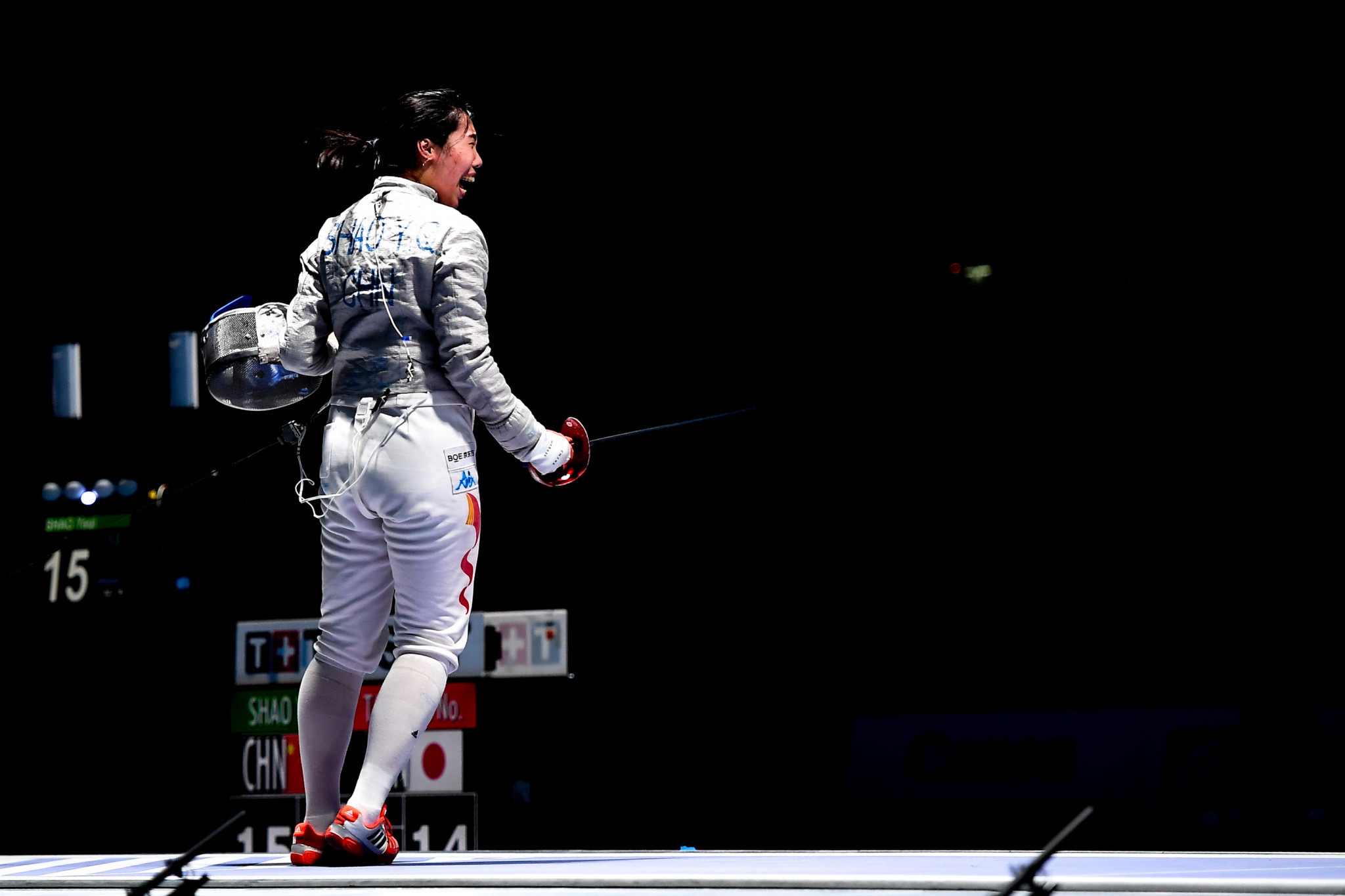Yaqi Shao helped China to the team sabre gold medal ©Getty Images