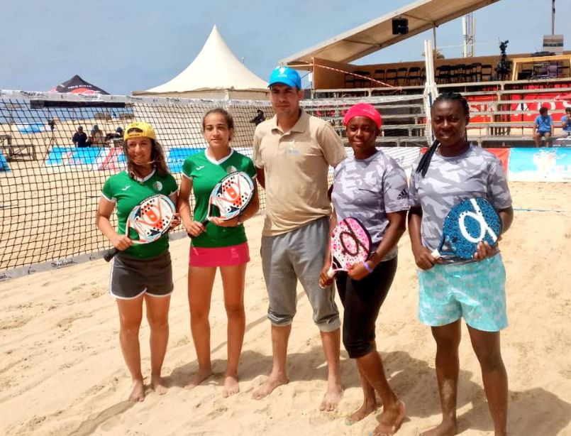 Nigeria won a silver medal in the women's beach tennis tournament at the African Beach Games ©Twitter
