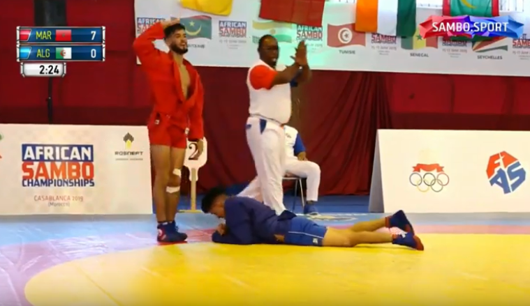Four gold medals for hosts Morocco on day two of African Sambo Championships