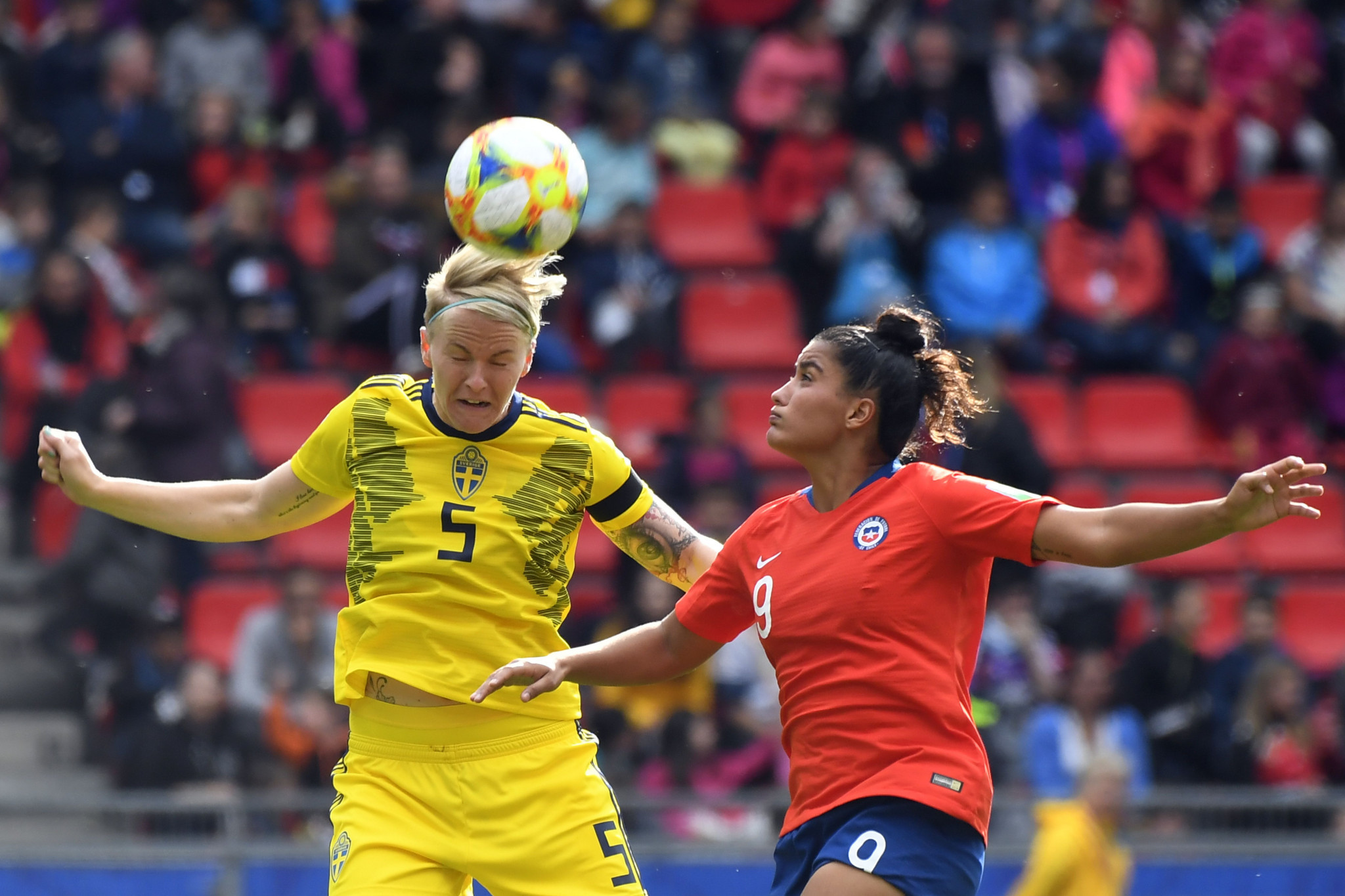 Nilla Fischer is representing Sweden at the 2019 FIFA Women's World Cup in France ©Getty Images