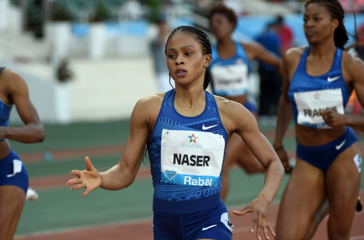 Salwa Naser of Bahrain lowered her season's best in winning the women's 400m at the IAAF Diamond League meeting in Rabat, Morocco tonight ©Getty Images
