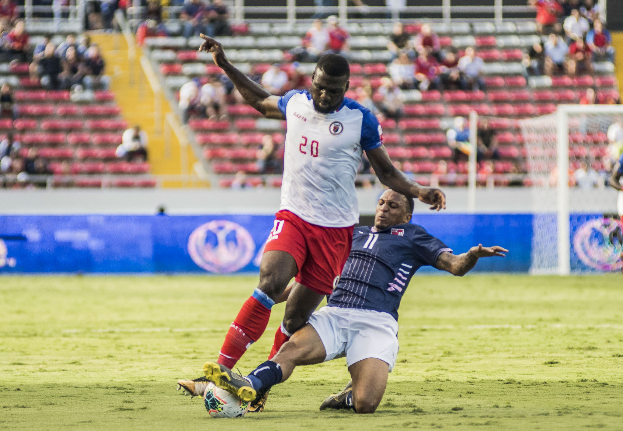 Frantzdy Pierrot scored twice as Haiti came from behind to beat Bermuda ©Getty Images