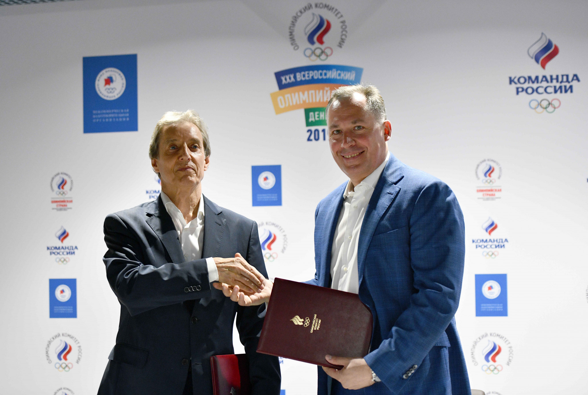 Russian Olympic Committee signs agreement with athlete group to celebrate Olympic Day
