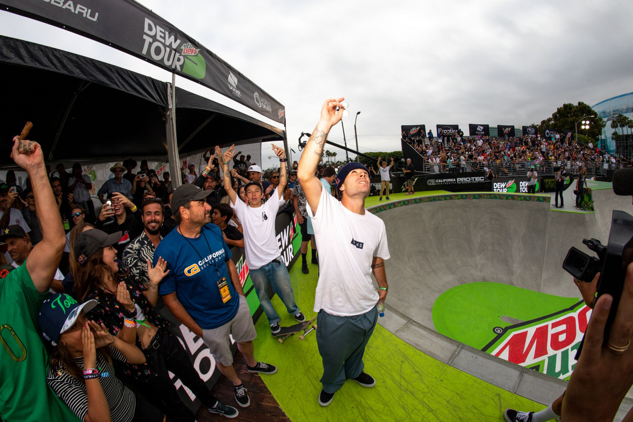 Pedro Barros of Brazil followed up his strong semi-final performance to win the men's park final ©Dew Tour
