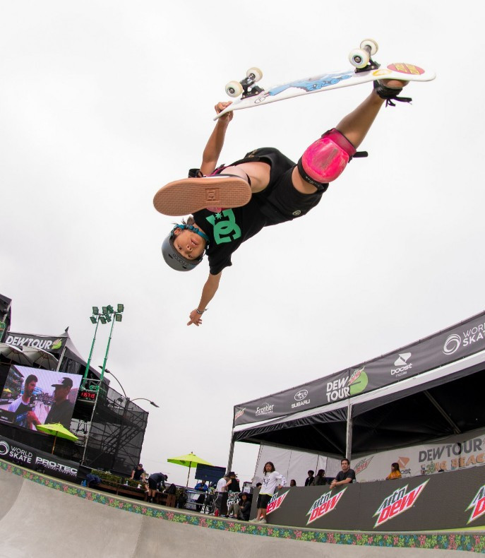 In the women's park final, Japan's Misugu Okamoto laid down a marker that she could be one to watch in her home Olympics ©Dew Tour