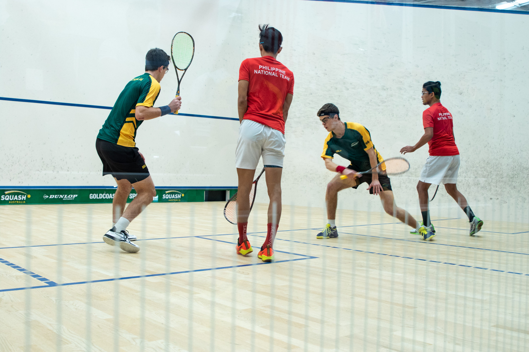 Brothers Nicholas and Thomas Calvert won their men's doubles clash against Malaysia's Darren Chan and Bryan Lim ©WSF