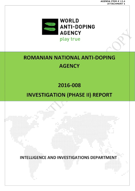 A second investigatory report by WADA has found that the Romanian National Anti-Doping Agency had directed the Bucharest Laboratory to cover up positive doping tests relating to at least three athletes ©WADA