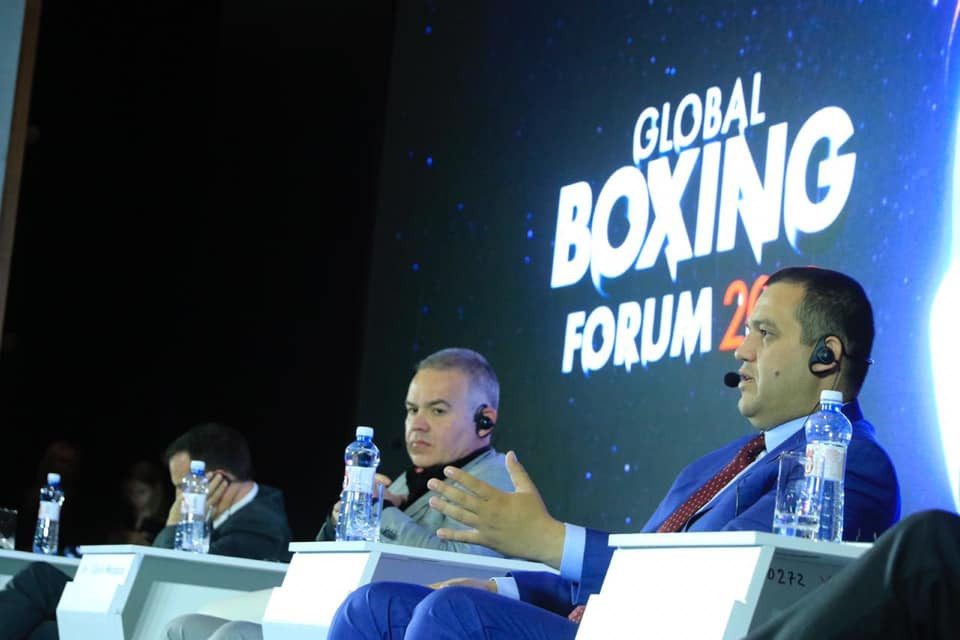 It is claimed that Umar Kremlev, right, has the support of the sport following the creation of the new Global Boxing Fund set up in the wake of AIBA being suspended by the IOC ©RBF