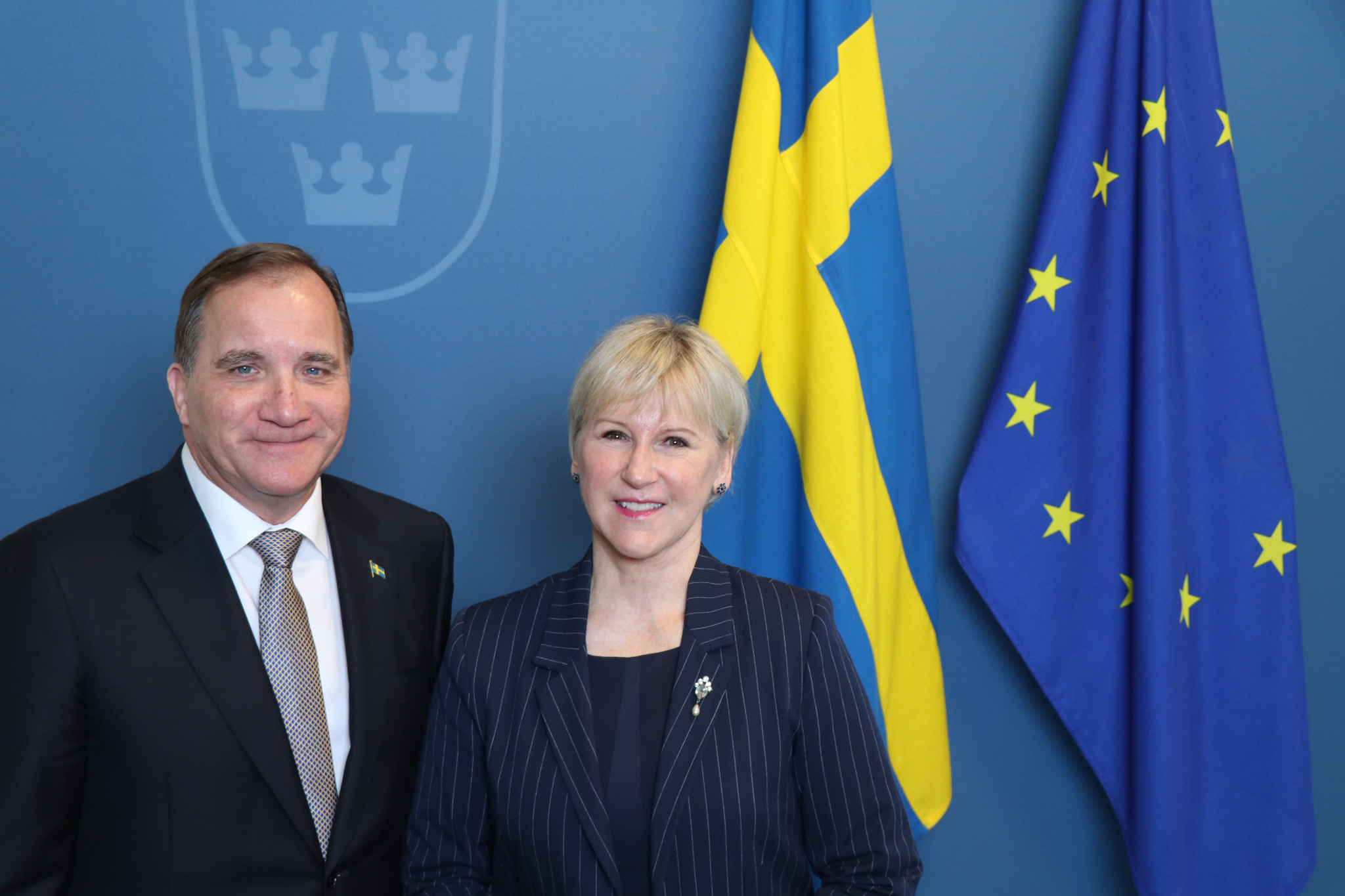 Sweden's Prime Minister Stefan Löfven and the Minister of Foreign Affairs Margot Wallström have thrown their support behind Stockholm Åre 2026 along with other leading politicians and top companies ©Stockholm 2026