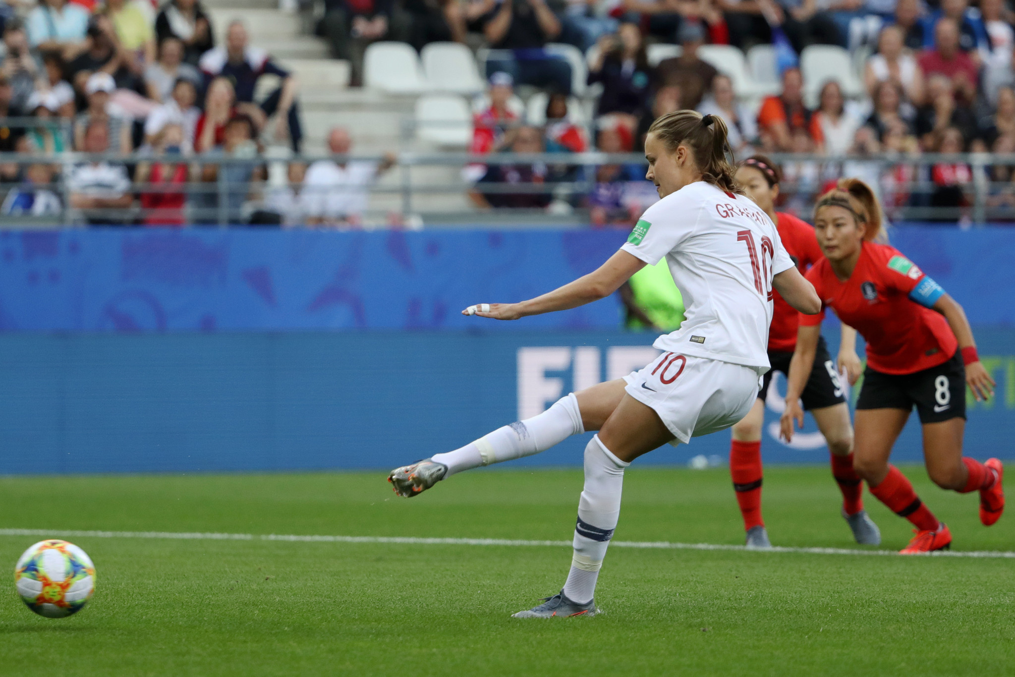 Caroline Graham Hansen puts Norway 1-0 up against South Korea with a penalty ©Getty Images