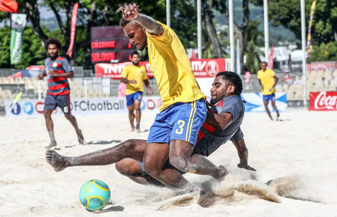 Solomon Islands started their defence of the Oceania Football Confederation Beach Soccer Nations Cup with a 2-0 win against New Caledonia ©OFC
