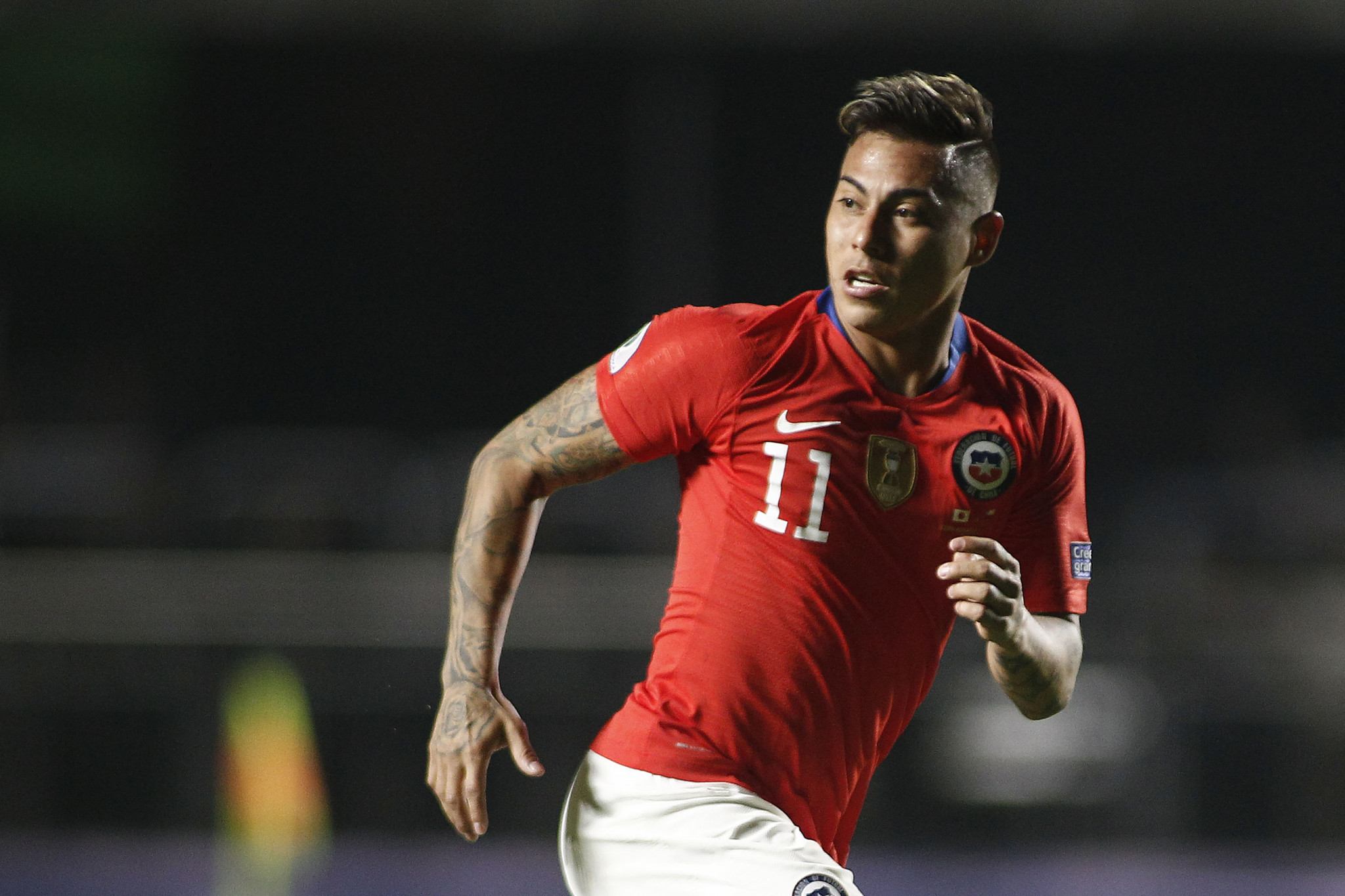 Striker Eduardo Vargas scored twice, becoming Chile's top scorer in Copa America history ©Getty Images