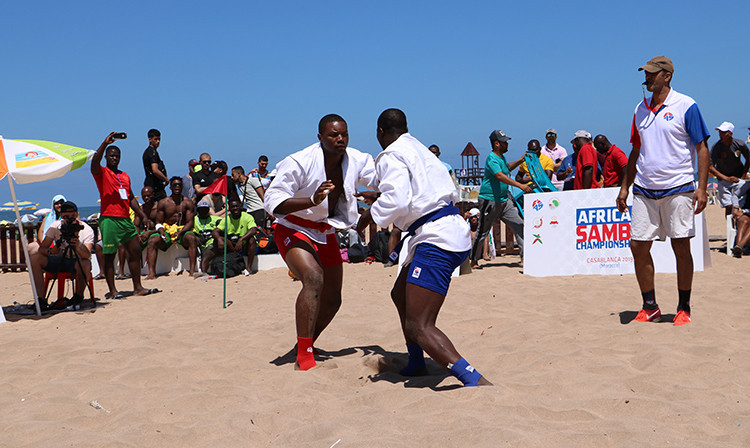 The African Beach Sambo Championships took place today on Plage Aïn Diab in Casablanca ©FIAS