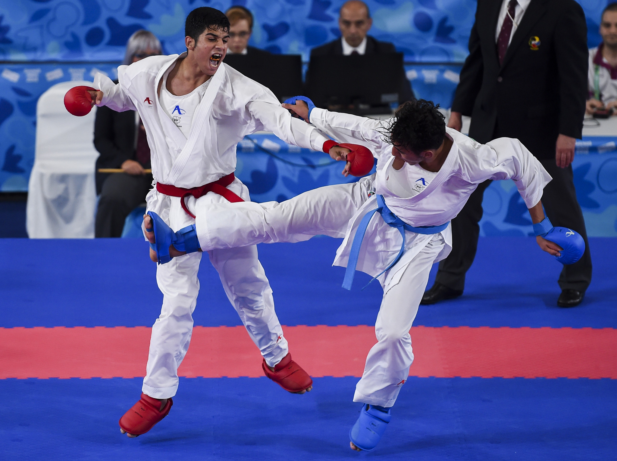 Navid Mohammadi beat Morocco's Nabil Ech-Chaabi in the boys' over-68kg final at the Buenos Aires 2018 Summer Youth Olympic Games ©Getty Images