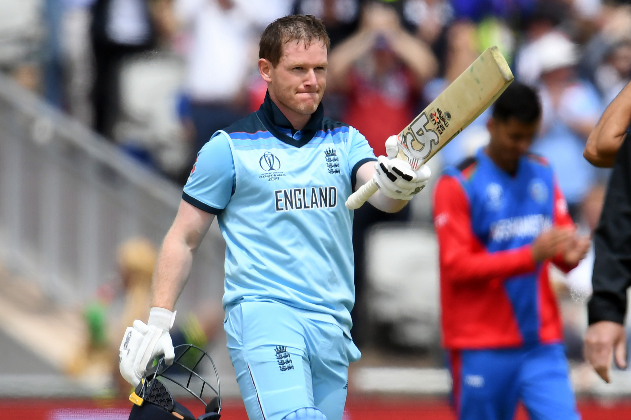 Eoin Morgan hit 17 sixes for England against Afghanistan at the Cricket World Cup ©Getty Images