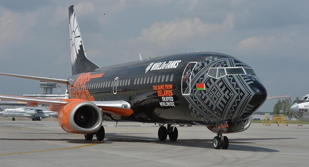 A strange conjunction - Belavia airlines are sponsored by World of Tanks...©Getty Images