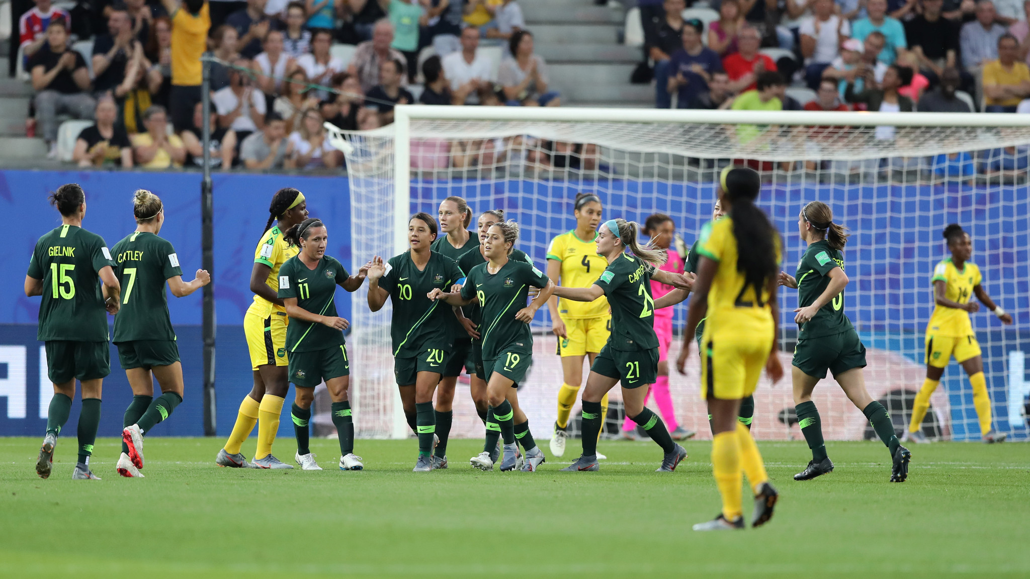 Kerr celebrates her opening goal of the night ©Getty Images