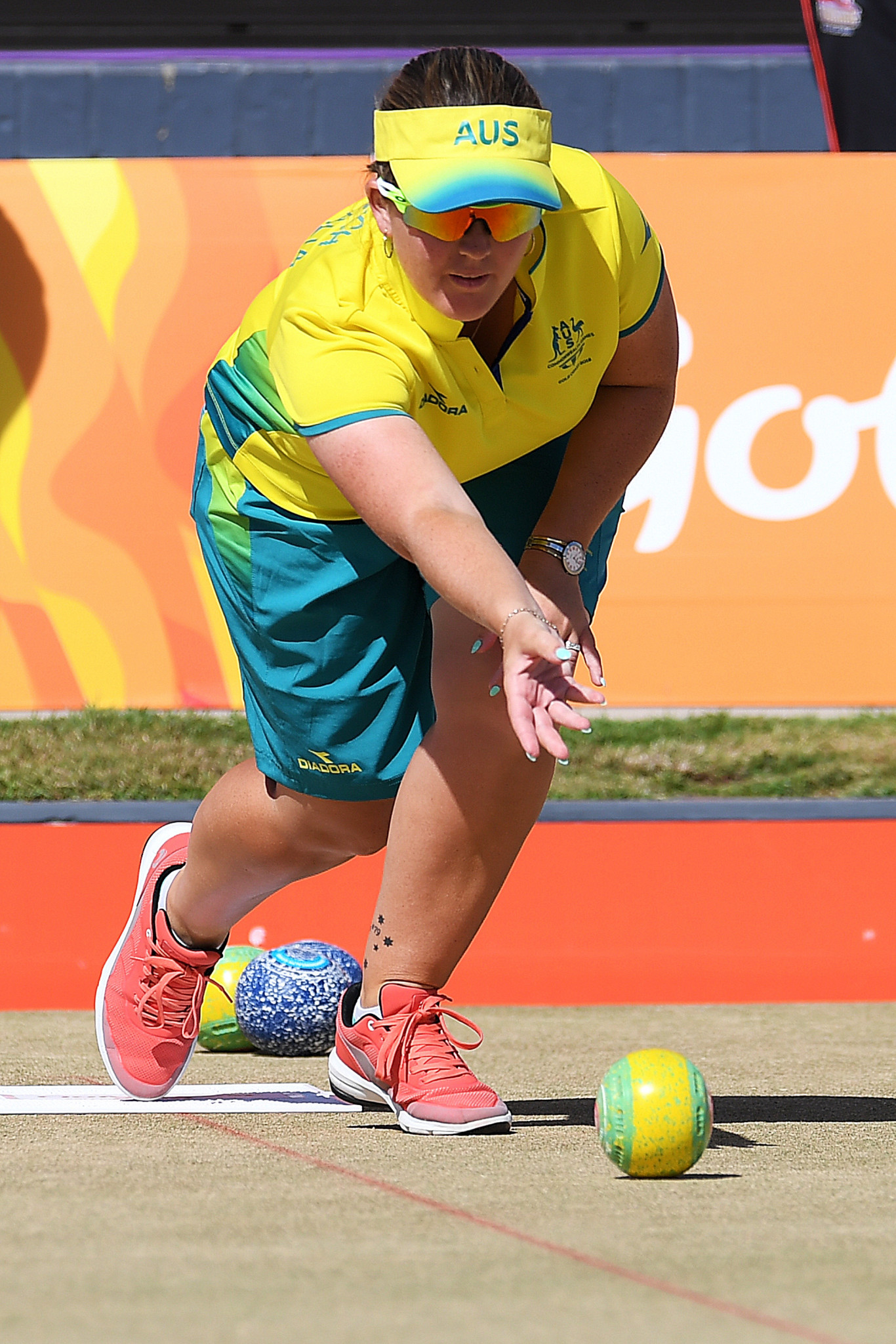 Rebecca Van Asch is part of the Australia quartet leading section one of the women's fours ©Getty Images