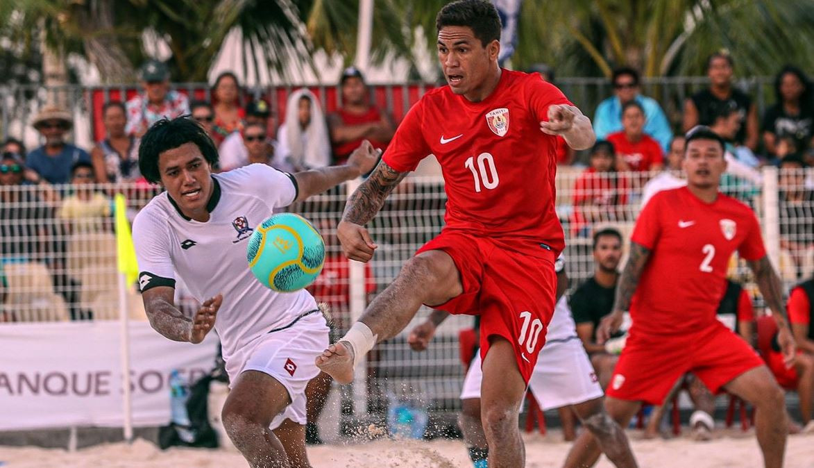 Debutants Tonga overpowered as Tahiti net record OFC Beach Soccer Nations Cup victory