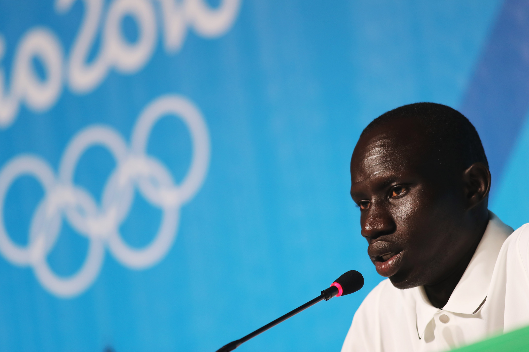 Yiech Pur Biel was one of 10 refugee athletes to compete at Rio 2016 ©Getty Images