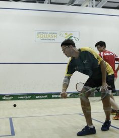 Pilley and Lobban maintain fine form at World Doubles Squash Championships