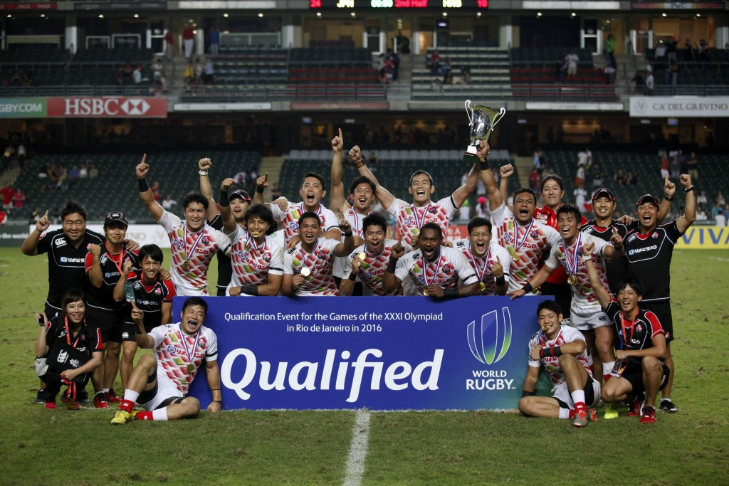 Japan come from behind to secure Rio 2016 berth with narrow win over Hong Kong at Asia Rugby sevens qualifier