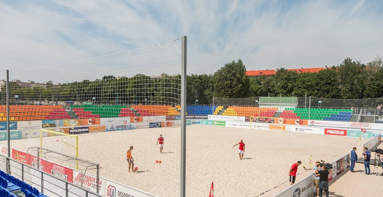 New venue attracts spectators with Minsk 2019 beach soccer competition nearing sell-out