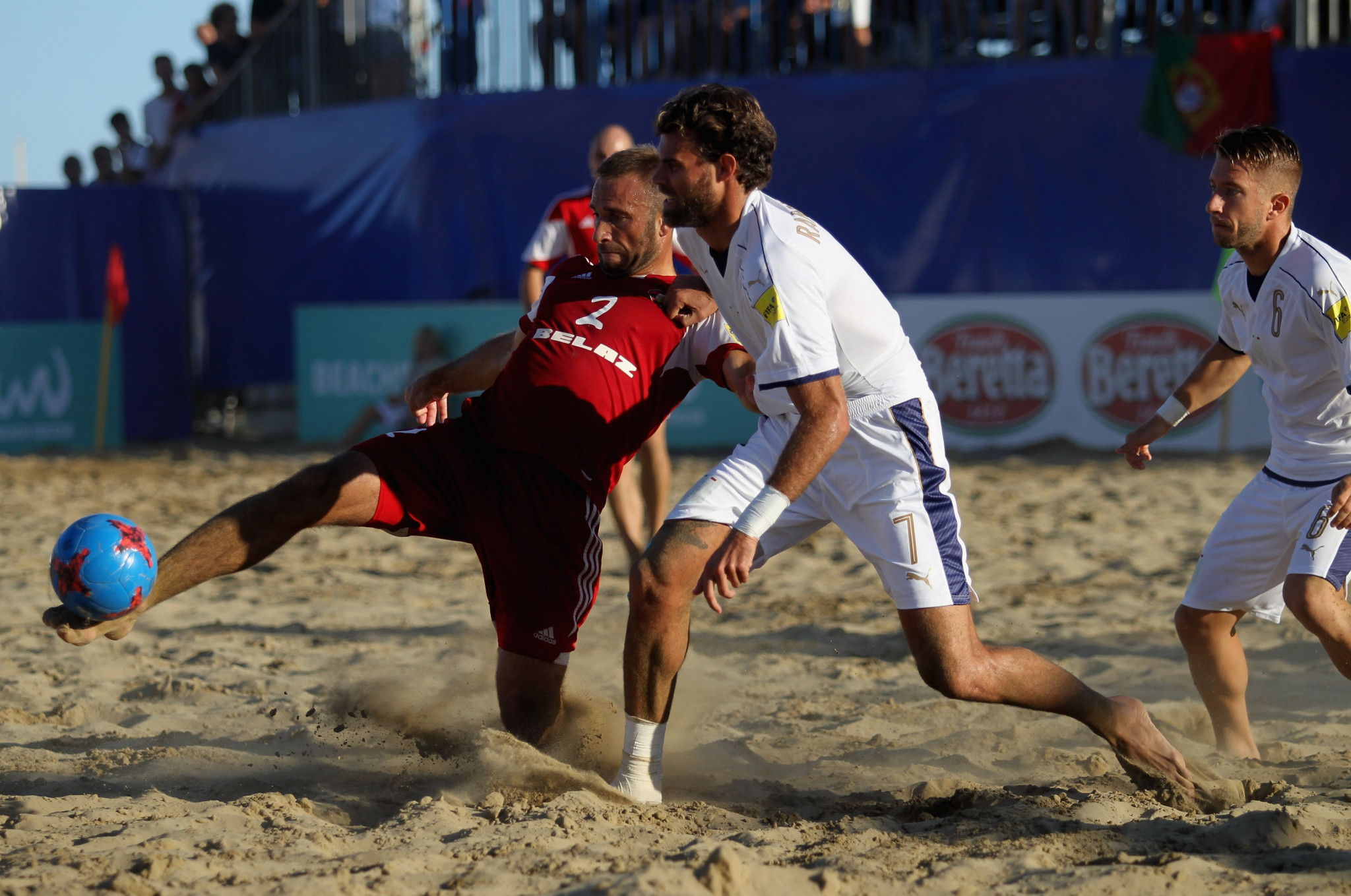 Hosts Belarus and Italy will both compete in the beach soccer competition at Minsk 2019 ©Getty Images