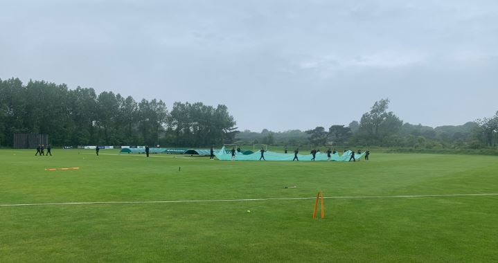 The grey skies cleared over Castel in Guernsey as the hosts took on Norway in the ICC T20 World Cup Europe Qualifier ©Twitter