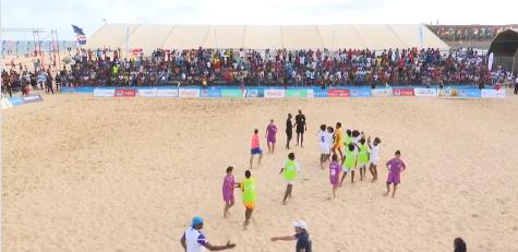 Hosts Cape Verde beat Algeria in first leg of women's beach soccer final at African Beach Games