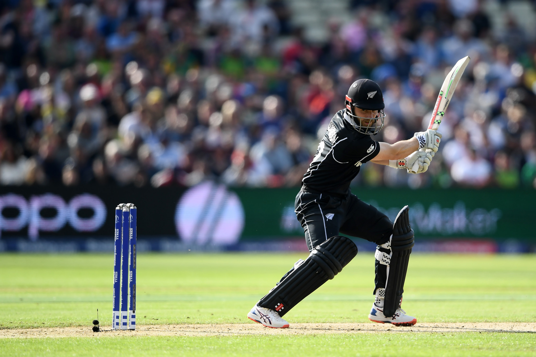 New Zealand captain Kane Williamson steered his side to a tense four-wicket victory over South Africa at the ICC Men's World Cup today ©Getty Images