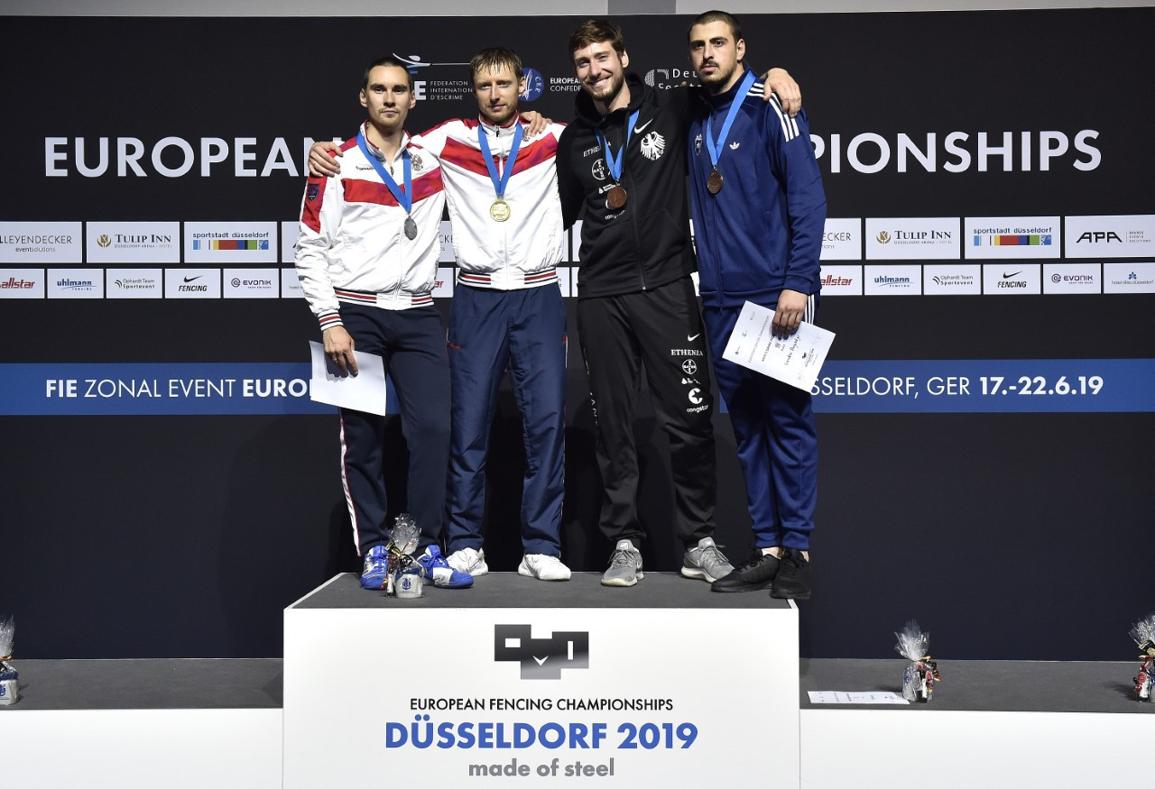 Russia's Reshetnikov plays it again 10 years on to regain European fencing title in men's sabre