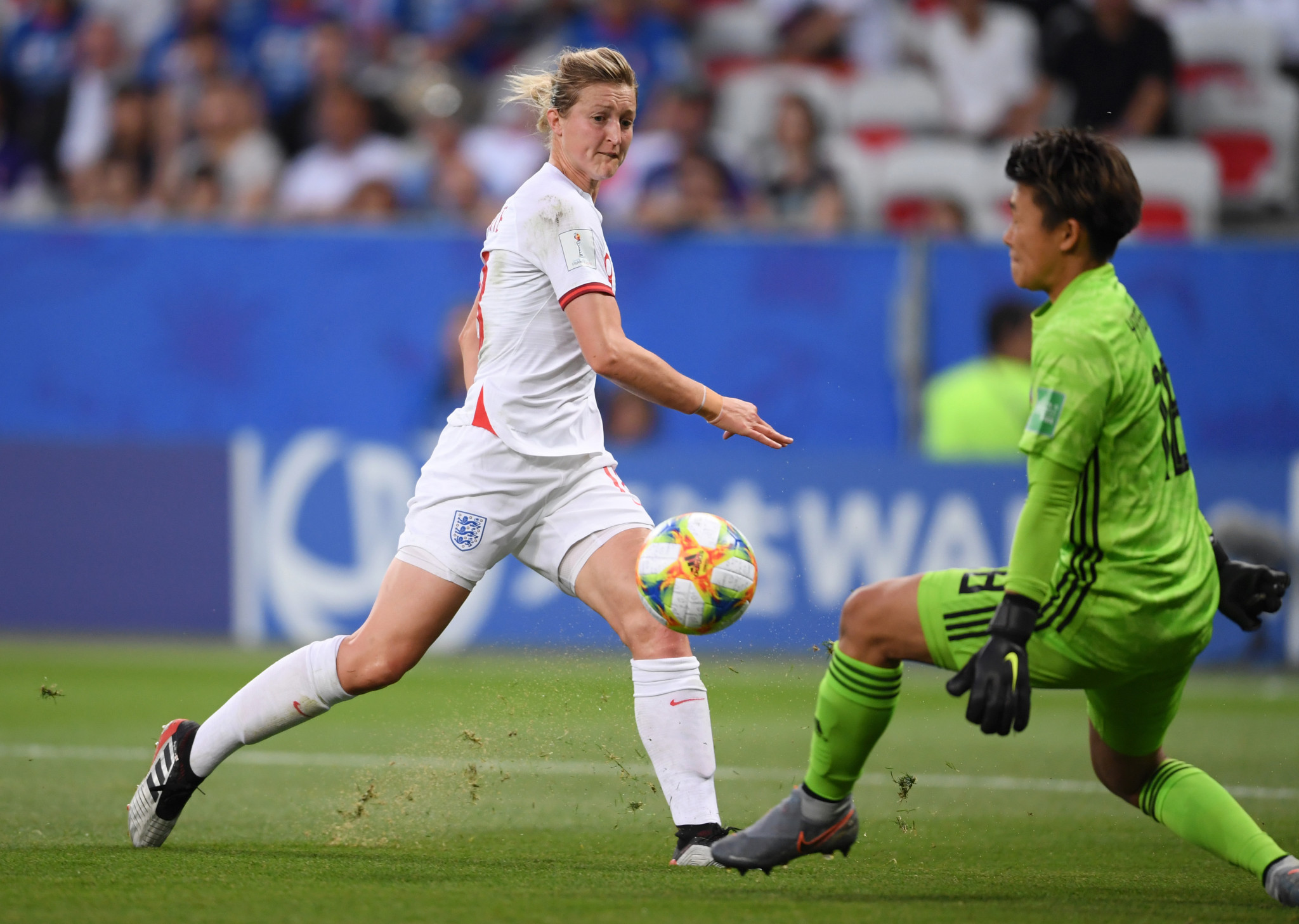 Ellen White opened the scoring for England at Allianz Arena in Nice in the 14th minute ©Getty Images