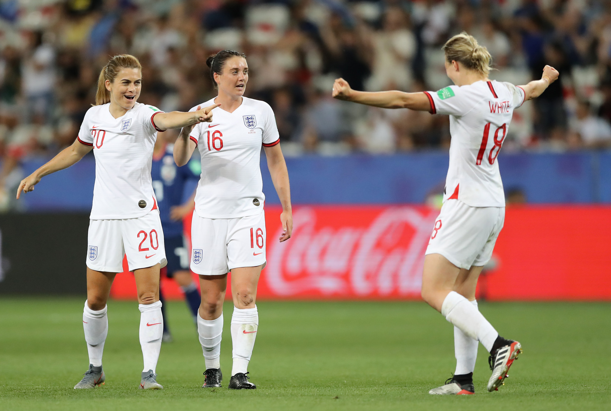 Her second goal secured a 2-0 victory for England ©Getty Images