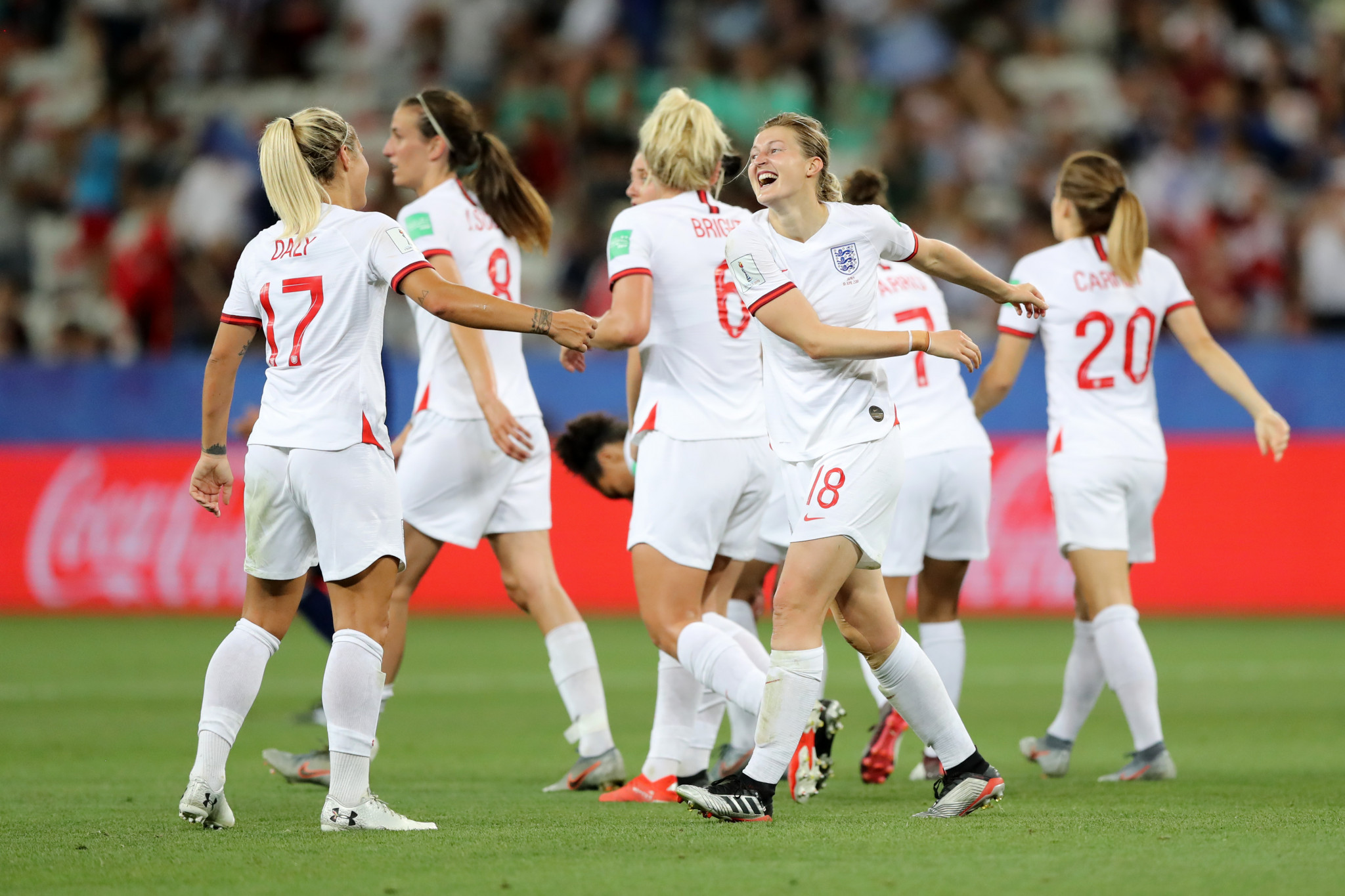 England's win meant they qualified for the round-of-16 as the top team in Group D ©Getty Images