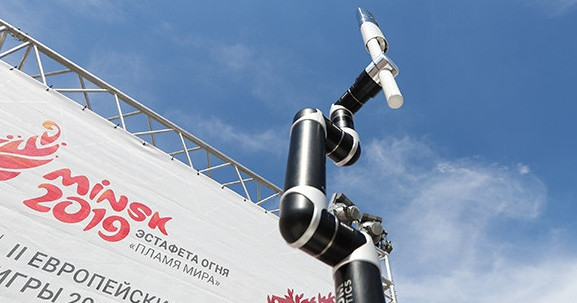 European Games Torch taken over by robot as Minsk 2019 countdown continues