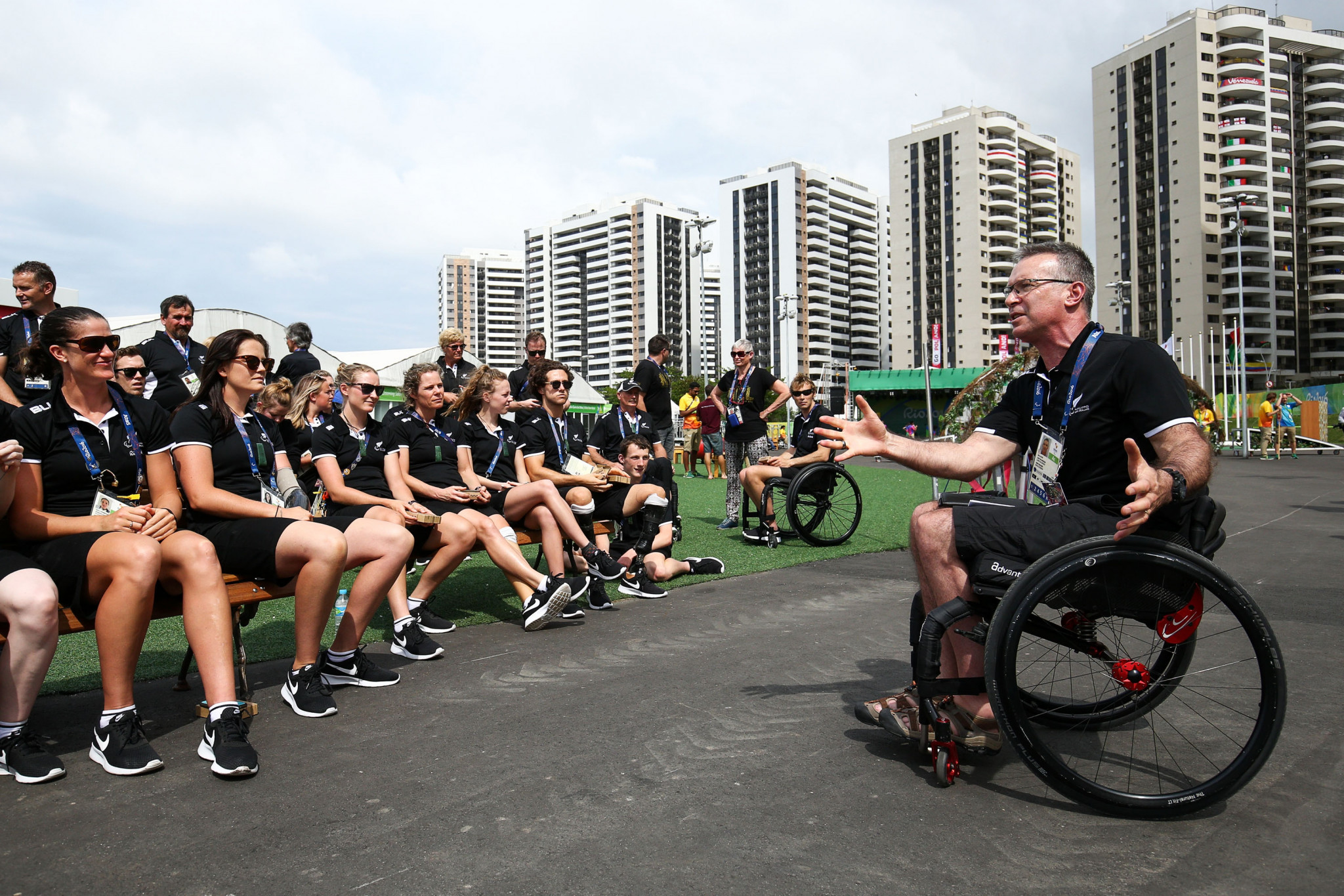Ben Lucas was New Zealand's Chef de Mission at the 2016 Paralympic Games in Rio de Janeiro ©Getty Images