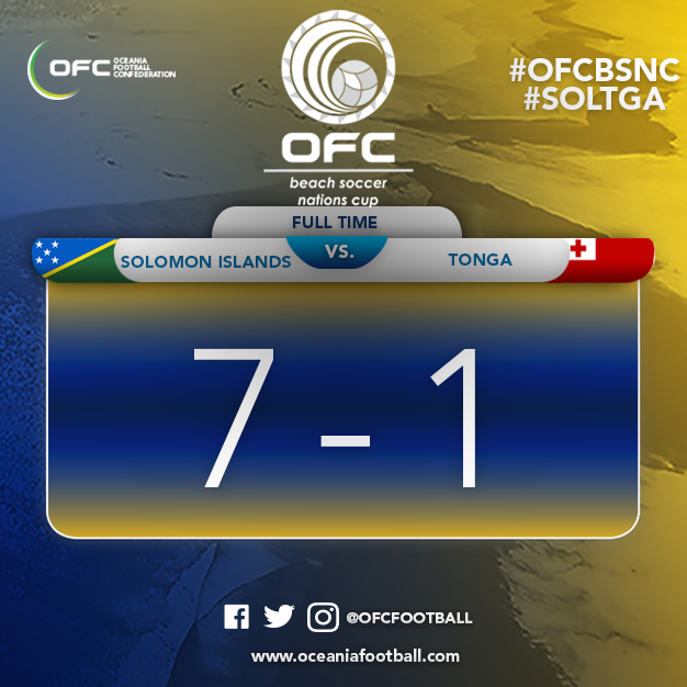 Reigning champions Solomon Islands qualified for the final of the Oceania Football Confederation Beach Soccer Nations Cup ©OFC