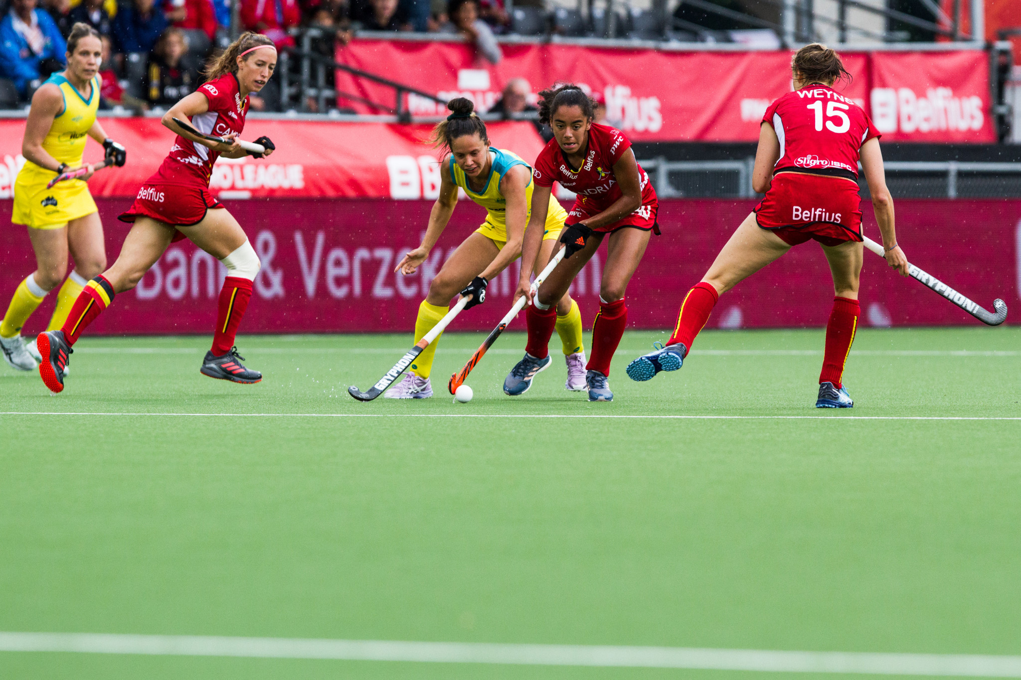 Belgium ended a five-match losing streak with victory over Australia in the women's competition ©Getty Images