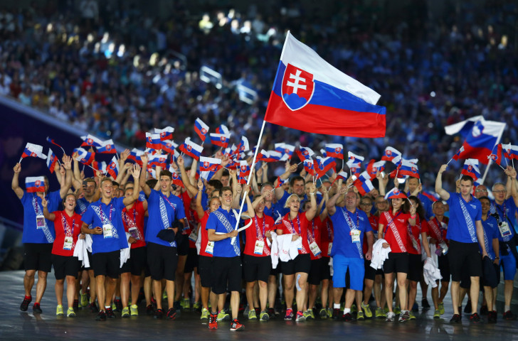 Slovakia march in the team parade at the first European Games Opening Ceremony in Baku − a greater proportion of officials will be allowed to take part in the Minsk 2019 parade  ©Getty Images