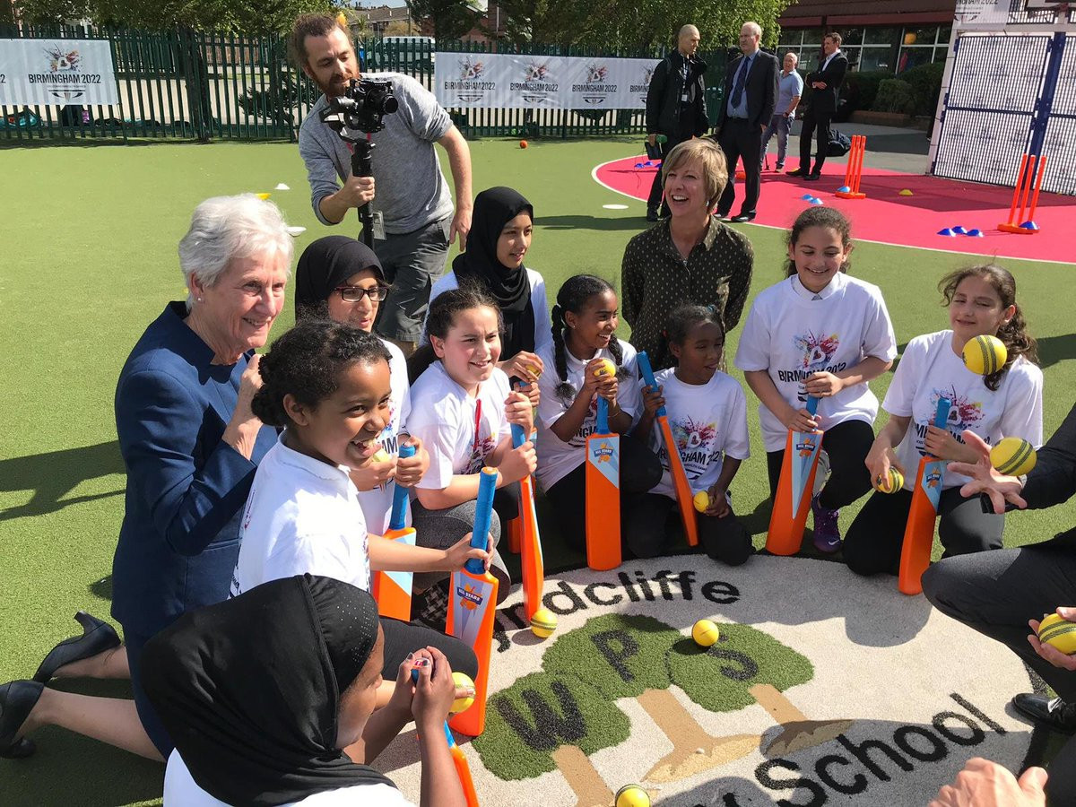 CGF President Dame Louise Martin and former England captain Clare Connor were on hand to officially announce that women's cricket has been included on the programme of the 2022 Commonwealth Games in Birmingham ©Birmingham 2022